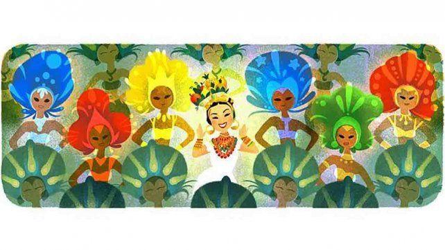 Google celebra el 108 cumpleaños de Carmen Miranda con su doodle