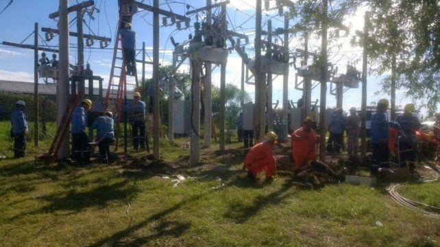 La EPE rehabilitó el servicio eléctrico en Esperanza desde la estación transformadora