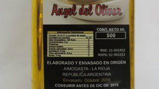 La Assal prohibió la comercialización de una marca de aceite de oliva