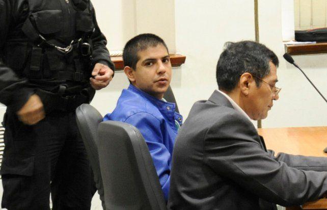 Emanuel Chamarro en una audiencia en los Tribunales provinciales de Rosario. (foto de archivo)