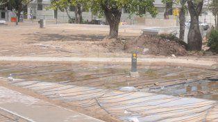 Los trabajos en el Parque Alberdi terminarán a fines de febrero
