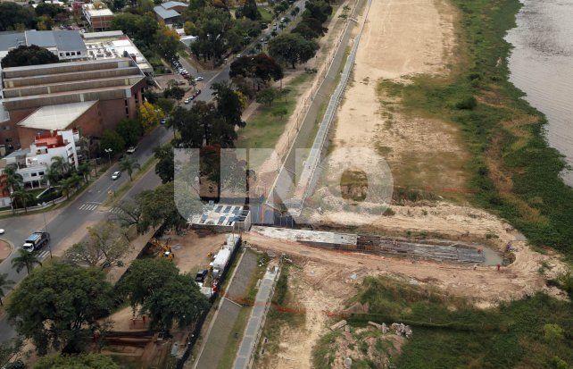 Por las condiciones climáticas, se suspendió la inauguración del desagüe Llerena