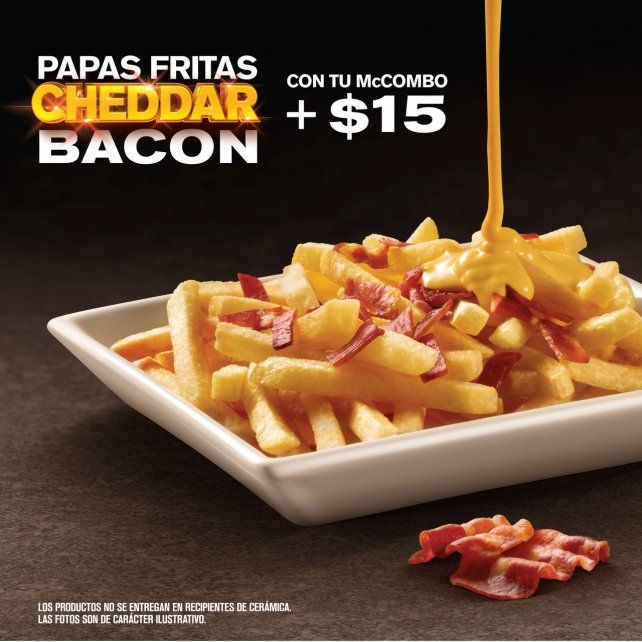 Llegan a McDonalds las Papas Fritas Cheddar Bacon