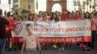 Santafesinos se movilizaron para concientizar sobre las cardiopatías congénitas