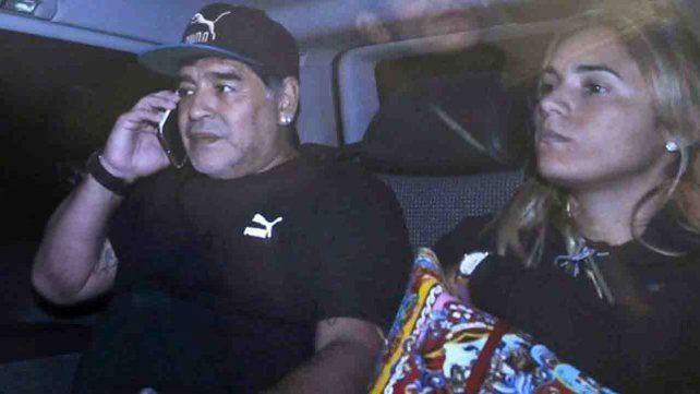 La Policía investiga a Maradona por una supuesta agresión a Rocío Oliva