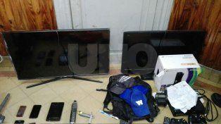 Detuvieron a tres ladrones y secuestraron electrodomésticos
