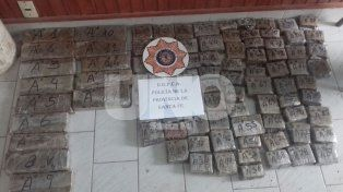 Secuestraron 30 kilos de marihuana y apresaron a dos narcotraficantes en el norte santafesino
