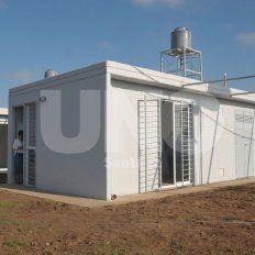 Planes. Una de las viviendas que fueron inauguradas recientemente en Nueva Esperanza.