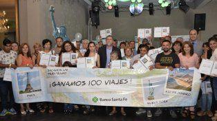 El Banco Santa Fe entregó 100 viajes a los ganadores de una promo