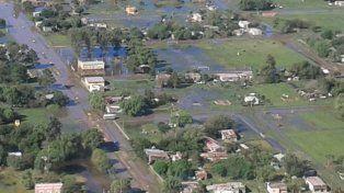 La más complicada. Villa Saralegui, en San Cristóbal, tuvo viviendas anegadas.