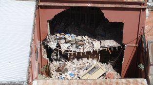 Hace un mes. El 22 de enero se desprendió parte de mampostería, entre otros daños.