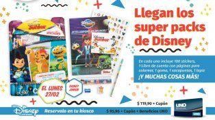 Este lunes llevate otro super pack de Disney