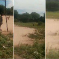 Filmaron a un duende mientras jugaban al fútbol y corrieron desesperados