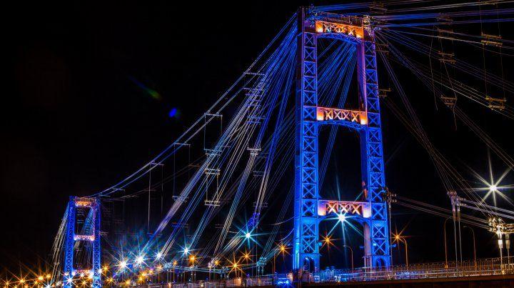 Con la nueva iluminación LED, el Puente Colgante resaltará su fisonomía y estructura