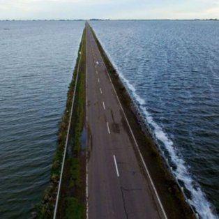 la laguna la picasa crecio 25 centimetros en 15 dias sobre la ruta nacional 7