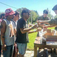 El Ejército asiste a a los fans del Indio varados en Olavarría