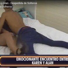 Despedida de solteros: Karen y Alan tuvieron un encuentro hot