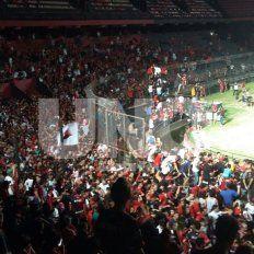 Los hinchas coparon el estadio Brigadier López después del triunfo