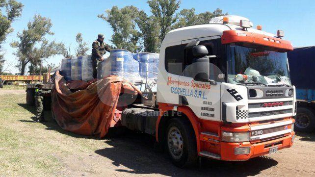 Gendarmería Nacional secuestró toneladas de precursores químicos en Rafaela