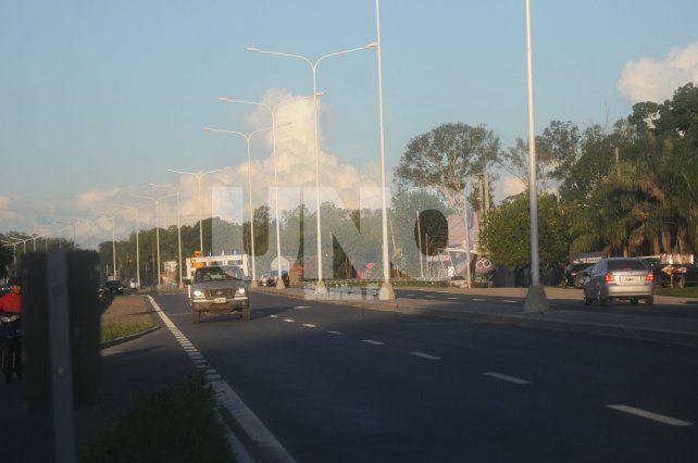 Respaldo. Los trabajos para la ciclovía en el corredor vial tienen el apoyo de la provincia.