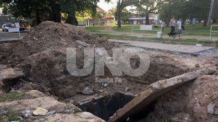 Hartos. Así están los vecinos, pero sobre todo preocupados por los cimientos de las casas.