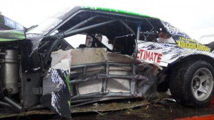 Golpazo. Dos pilotos del Turismo Carretera sufrieron un fuerte accidente.