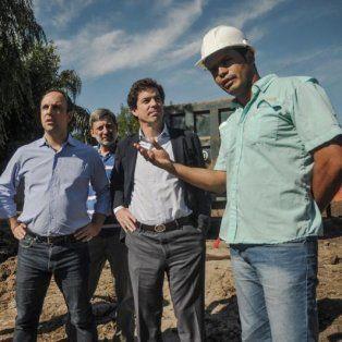 El intendente recibió al subsecretario de Recursos Hídricos de la Nación, Pablo Bereciartúa para analizar nuevas inversiones nacionales en la Ciudad y evaluar el avance de la construcción del desagüe Espora.