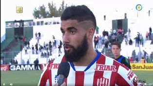 El joven fue ayudado por el jugador de Unión, Emanuel Britez.