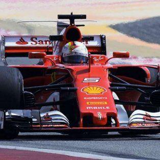 vettel festejo en bahrein y lidera el campeonato