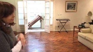 Cristina mostró en un video cómo quedó la residencia de la gobernadora Alicia Kirchner