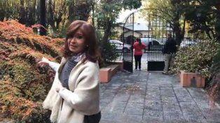 cristina mostro en un video como quedo la residencia de la gobernadora alicia kirchner