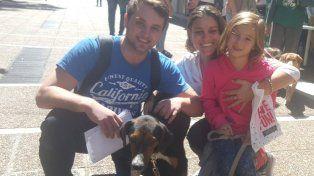 un encuentro de perros adoptados para celebrar el dia del animal