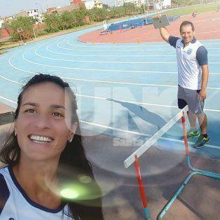 Hay equipo. Valeria Chiaraviglio trabaja con el popular Roque Ríos en Santa Fe.