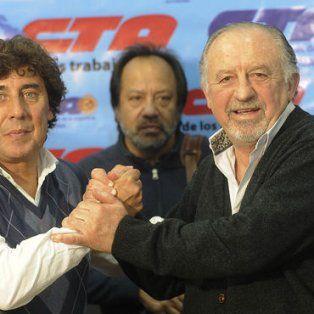 Referentes. Los líderes de las dos CTA, Micheli y Yasky.