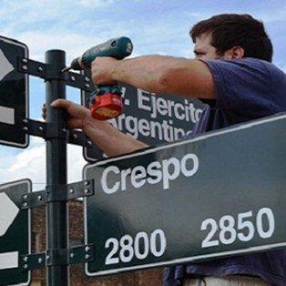 renovaran y colocaran unos 3 mil carteles con nombres de calles