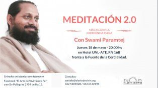 Meditación 2.0, Swami Paramtej en Santa Fe