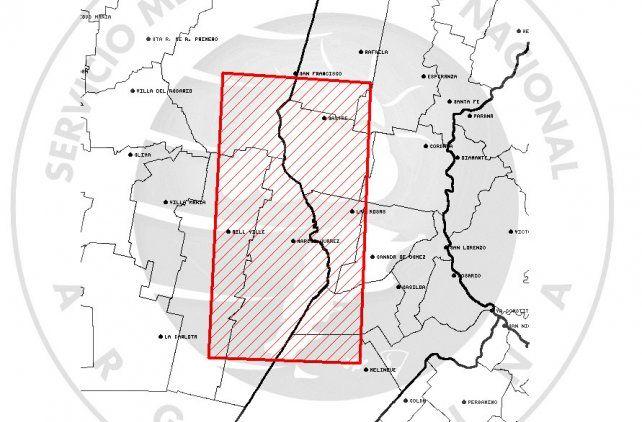 Alerta meteorológico a muy corto plazo para el suroeste de la provincia