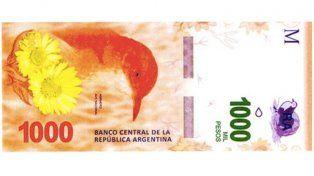 En octubre lanzarán el billete de $1.000 con la imagen del hornero