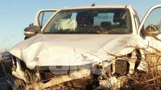 La camioneta Toyota fue dañada