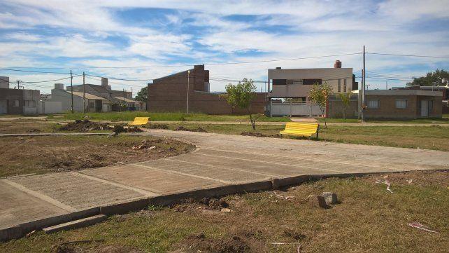 Cuenta regresiva para que Nueva Santa Fe tenga su plaza