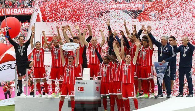 Bayern Munich se coronó campeón y despidió a Lahm y Alonso