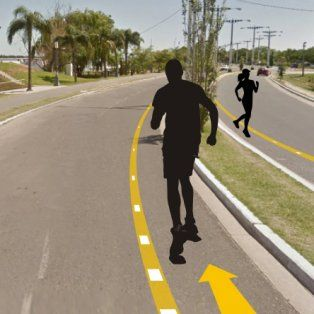 piden demarcar las sendas para corredores en costanera este