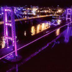 A las 19 se inauguran las nuevas luminarias del Puente Colgante