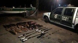 Secuestraron armas y cartuchos a depredadores de la fauna ictícola y autóctona