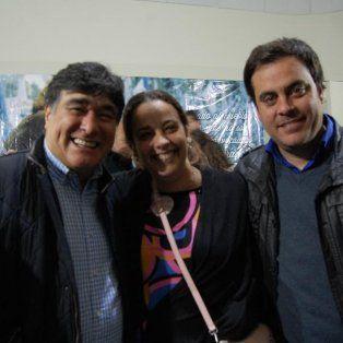 Presentes. Zannini, González y Baccarella, en el acto que se hizo con Agustín Rossi en Santa Fe.
