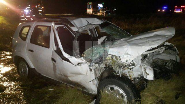 En un choque en la autopista un matrimonio resultó herido
