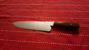 Una cuchilla similar a esta fue usada por el delincuente en el intento de robo.