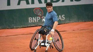 Gustavo Fernández perdió la final de tenis adaptado en Roland Garros