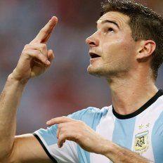 Lucas Alario convirtió su primer gol en la Selección