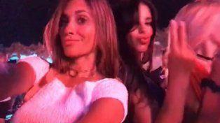 Antonella y Messi disfrutaron de la descontrolada noche de Ibiza